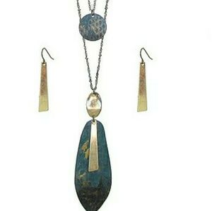 Jewelry - NEW boho double layer necklace and earrings.